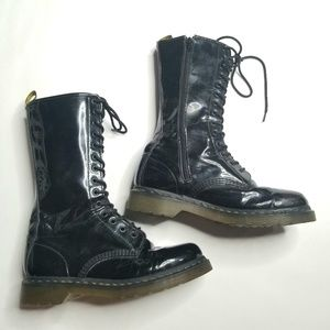 Dr. Martin's Tall Faux Leather Combat Boots. 10